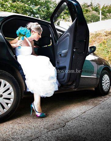 Descendo do carro