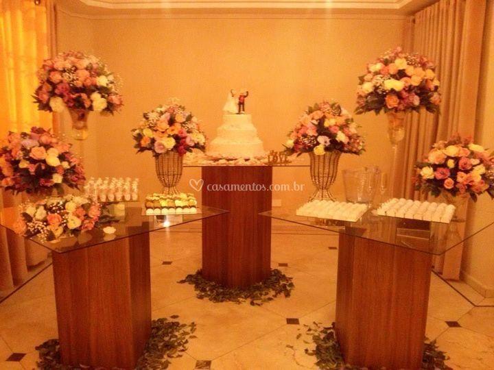 Mesa principal de casamento