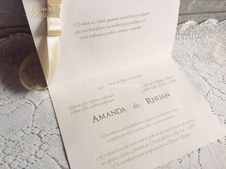 Convite de Casamento Gold
