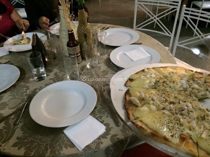 Casamento com pizzas