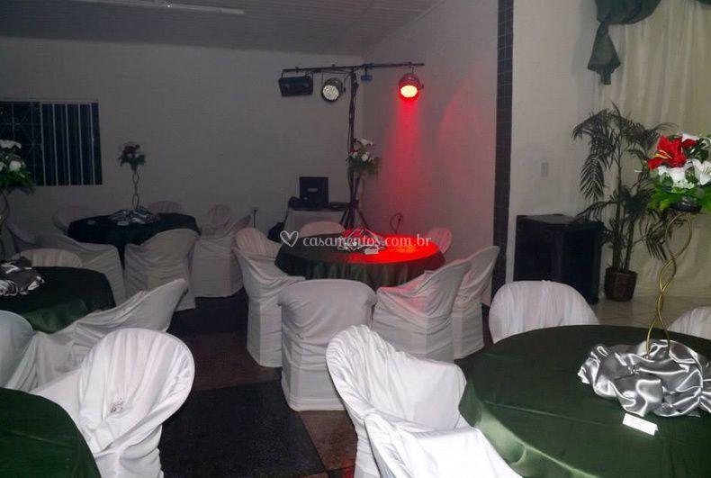 Espaço para a festa