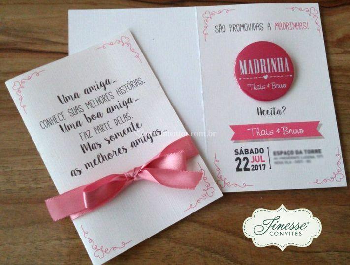 Convite Madrinha