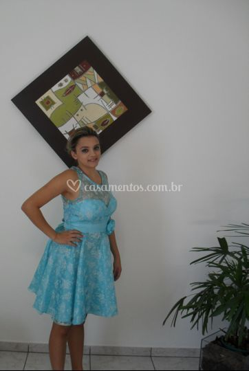 Vestido curto - azul claro