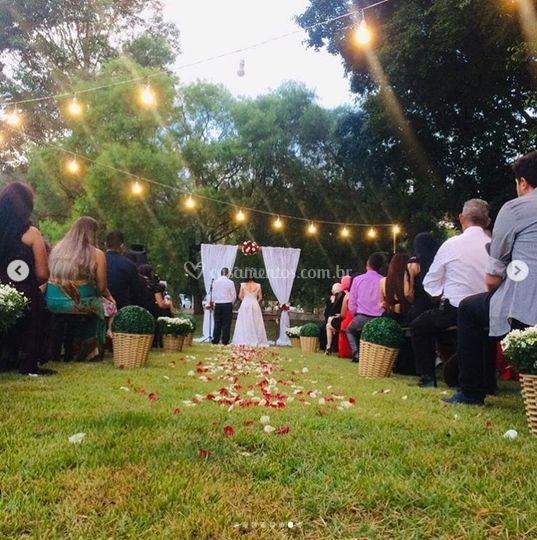 Casamento na área verde