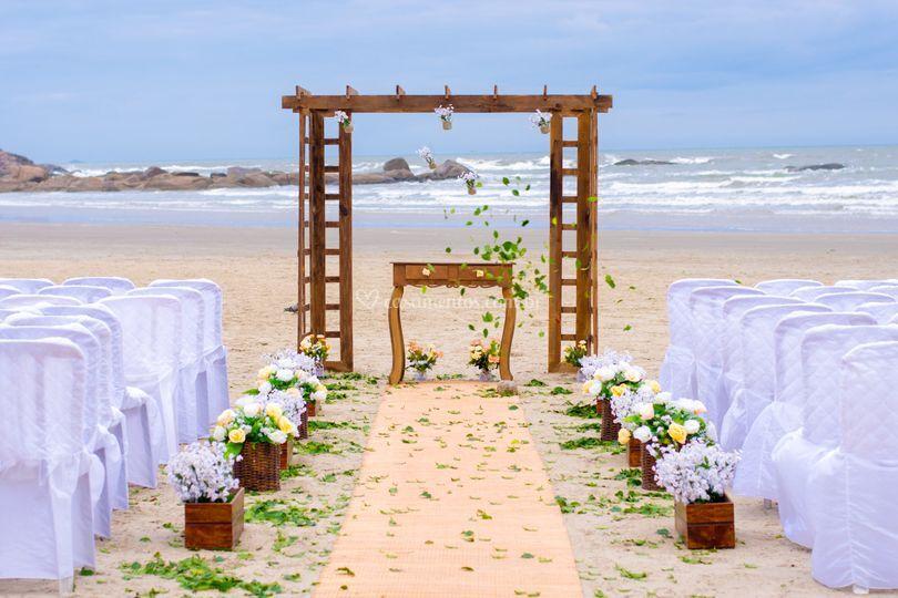 Cerimônia na areia