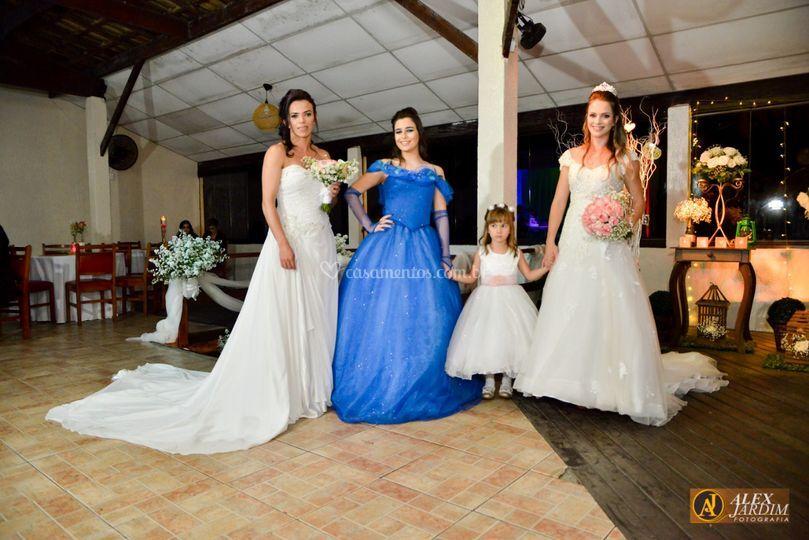 Noivas e debutante