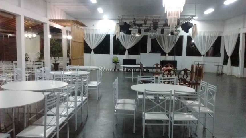 Vista parcial salão de eventos