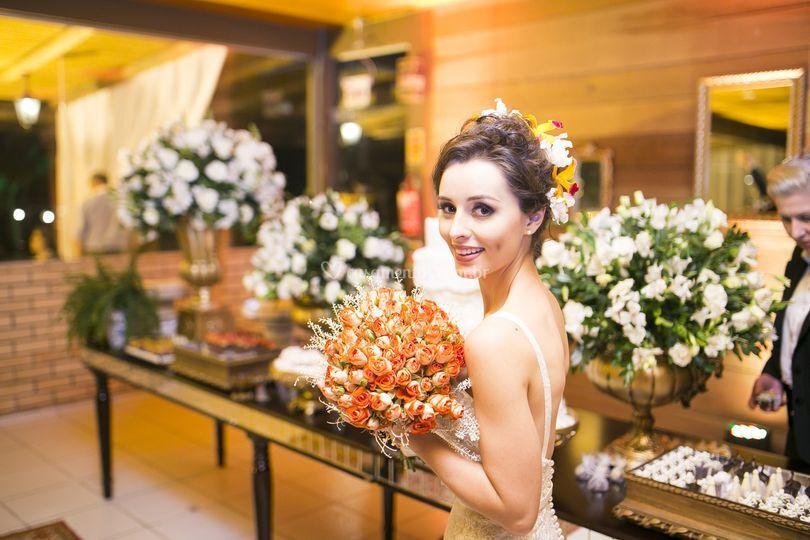 Foto casamento noiva com buquê