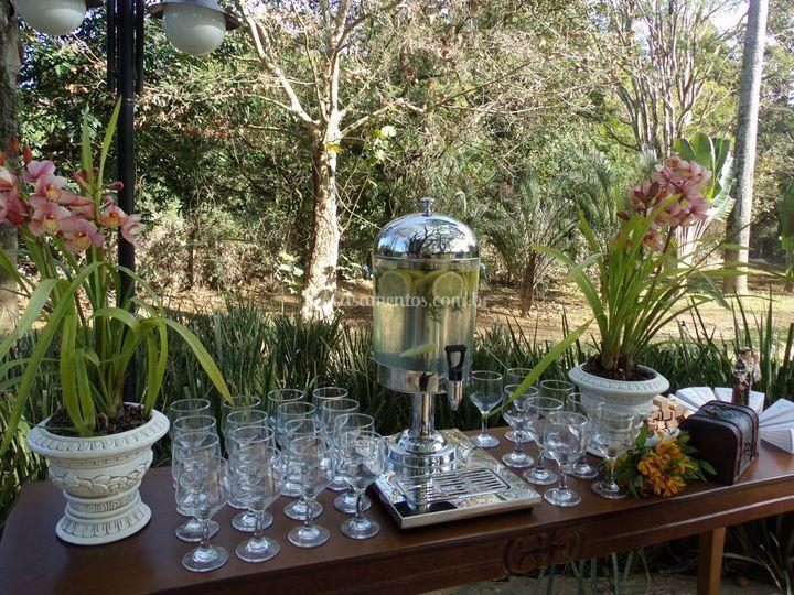 Água aromatizada na cerimônia