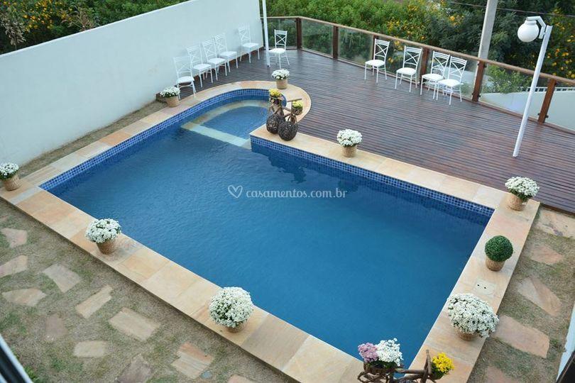 Vista piscina salão superior