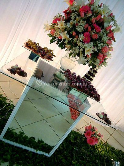 Mesa decorativa casamento