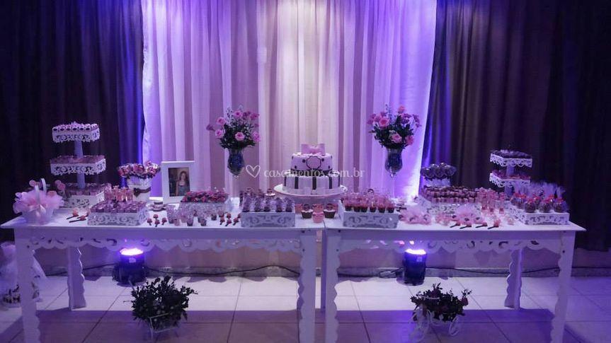 Mesa do bolo - casamento
