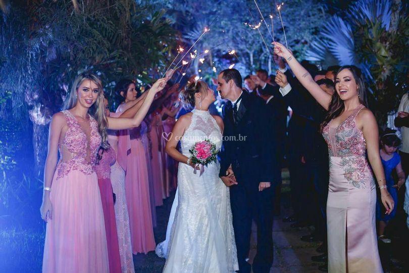 Noiva e 12madrinhas