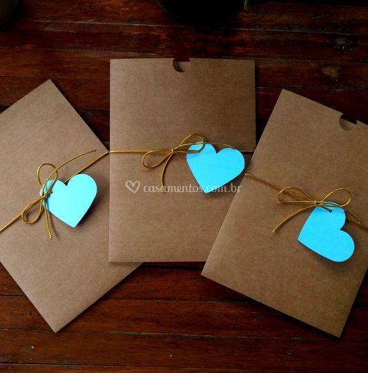 Envelopes coração