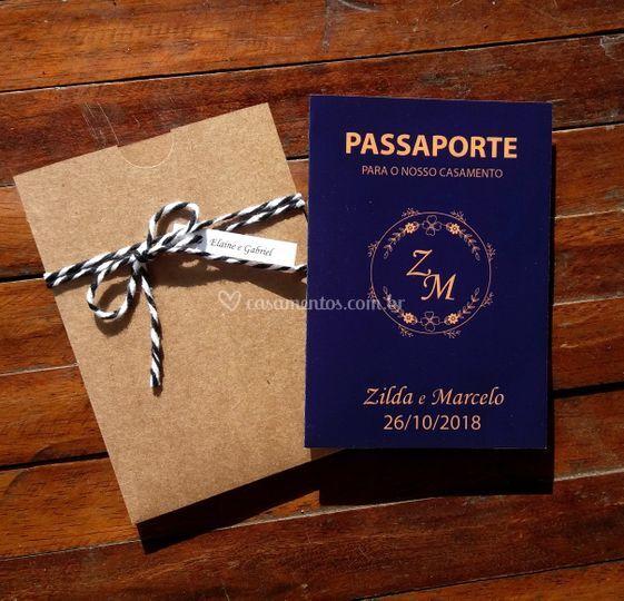 Modelo passaporte envelope