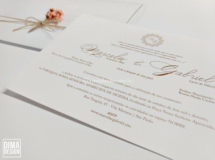 Convite classíco white