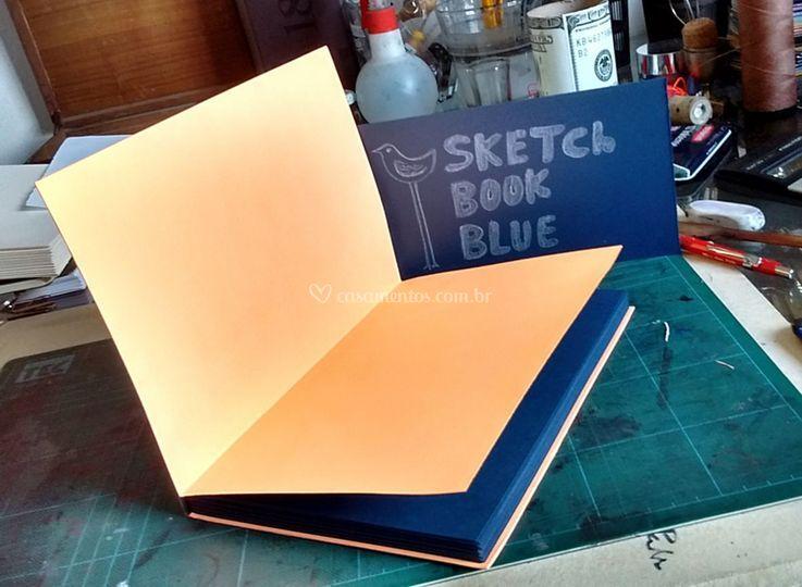 Cadernos SketchBookBlue
