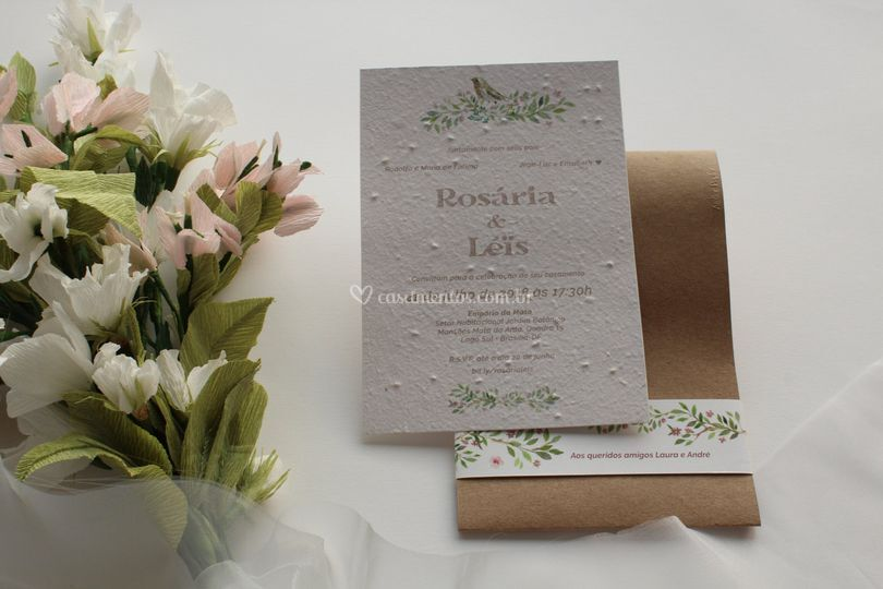 Convite Rosária-Papel Semente