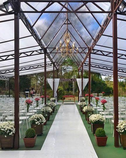 Cerimônia na Capela de Cristal