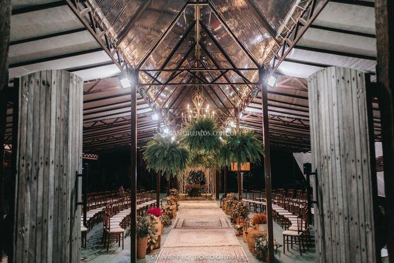 Capela de Cristal à noite