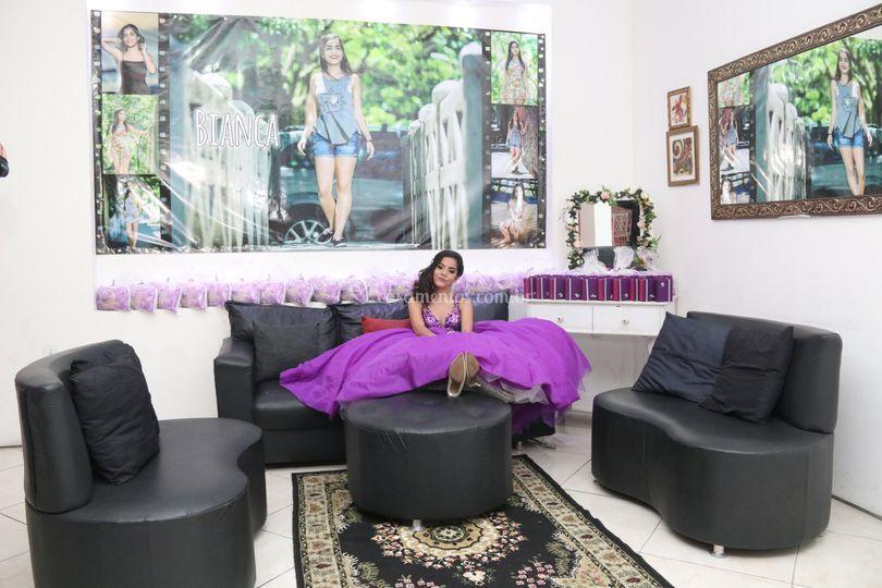 Lounge com espaço para banner