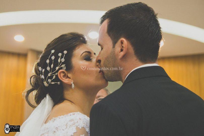 Pode beijar a noiva