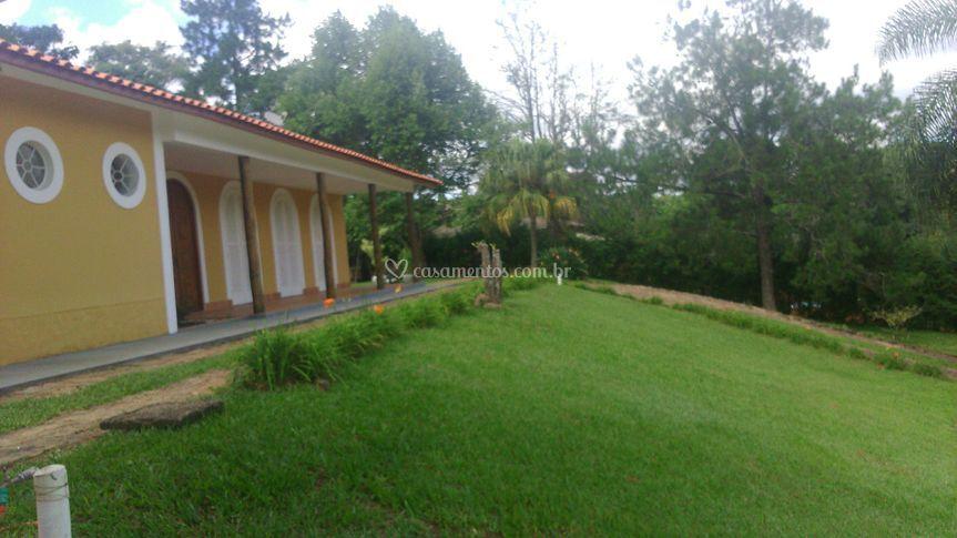A casa vista de frente