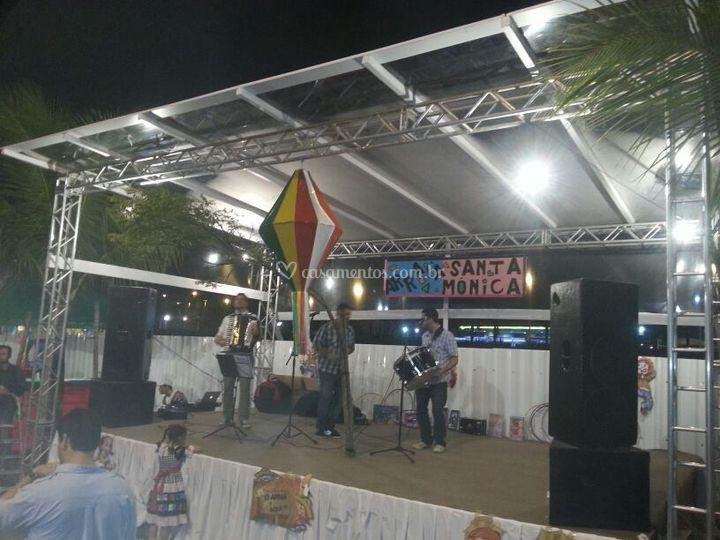 Toldo palco festa Junina