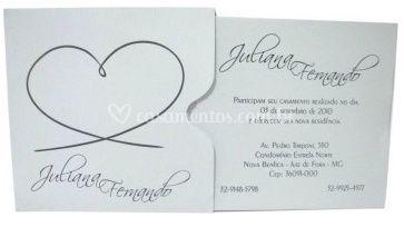 Convite casamento - POP 10.012 Vergê