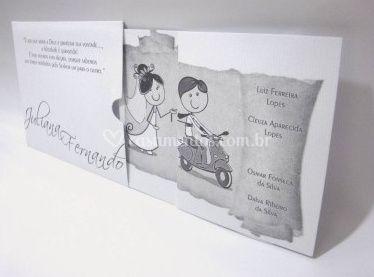 Convite de Casamento - POP 10.004b Vergê