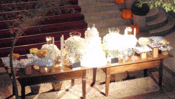 Iluminação de mesa de bolo