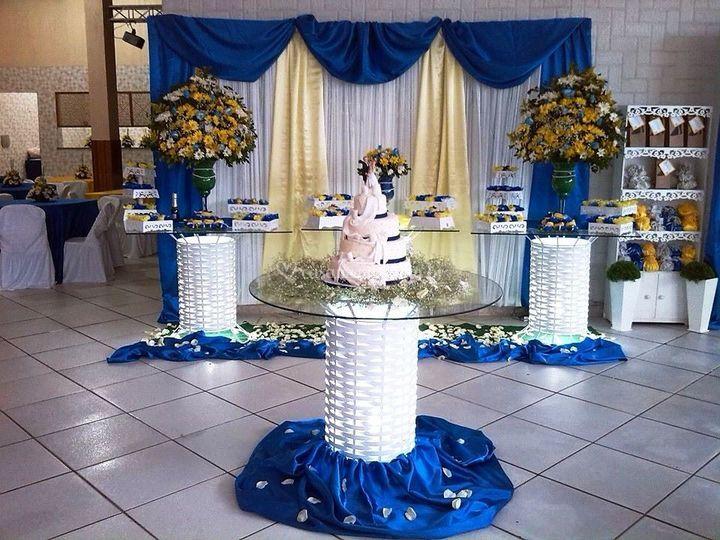 decoracao azul royal e amarelo casamento:Decoração Azul Royal e Amarelo de J & C Decorações