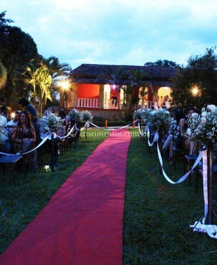 Cerimônia no jardim