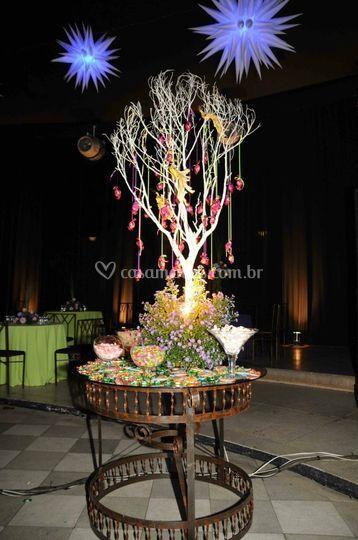árvore de bombons