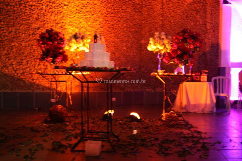 Casamento - Mesa de bolo