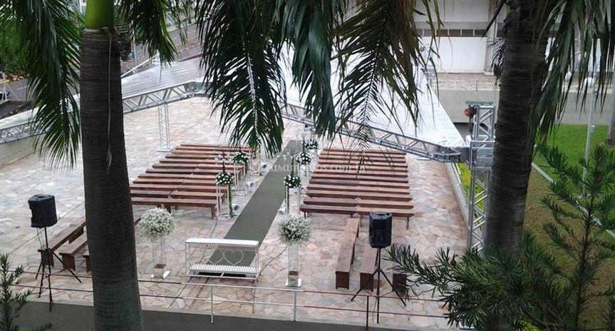 Tenda altar da cerimônia