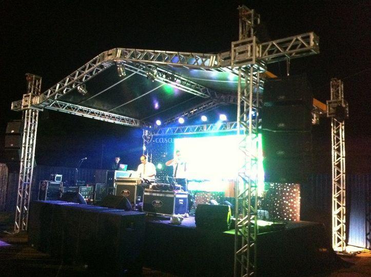 Tenda e palco shows