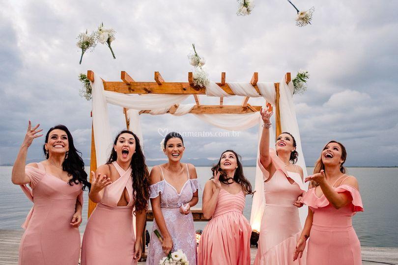 Madrinhas e a noiva