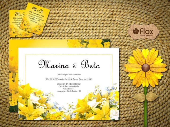 Convite Flores Amarelas