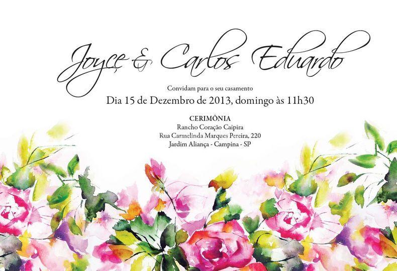 Convite Aquarela Floral
