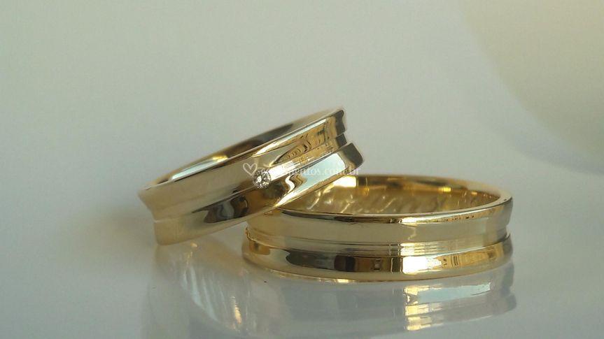 Alianças em Ouro18k