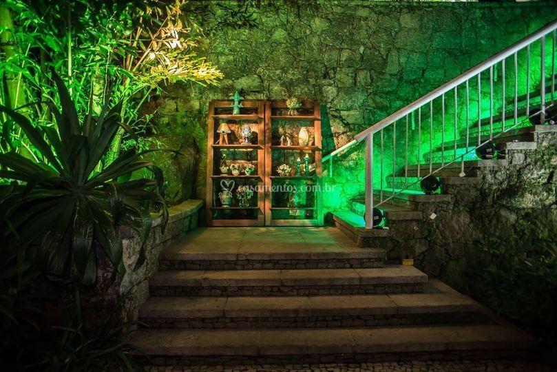 Escada de acesso ao salão de f