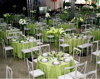 Decoração sala de jantar verde