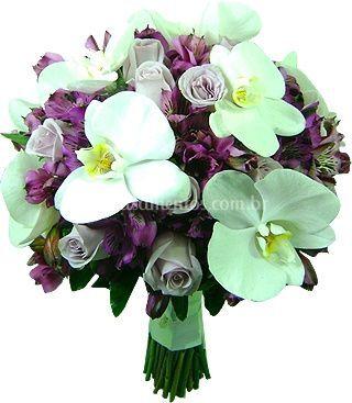 Bouque de noiva de orquídeas