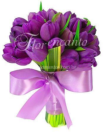 Bouque de noiva de tulipas
