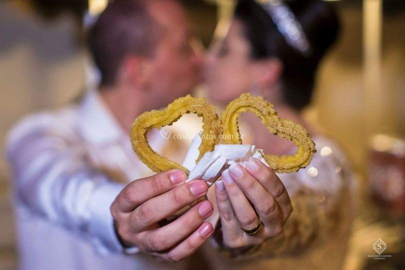 Casamento Churros Coração