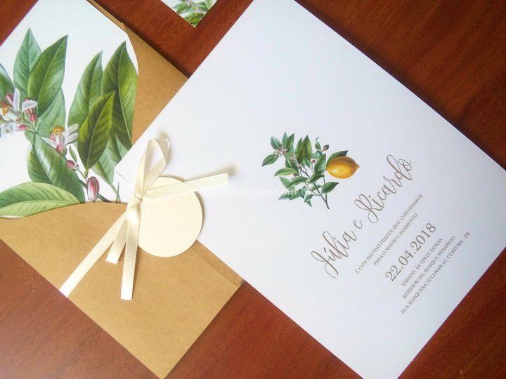 Convite Botânico Limão