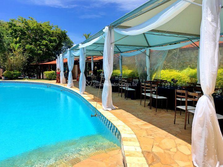 Area piscina de Hotel Pontal de Tiradentes