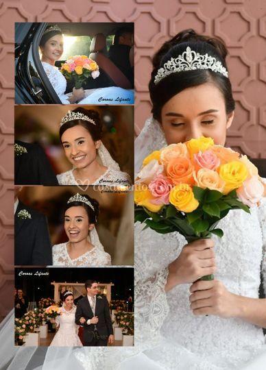 Noiva Elisama coroa Princesa