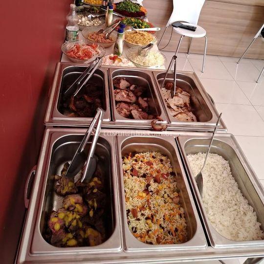 Buffet completo com Churrasco